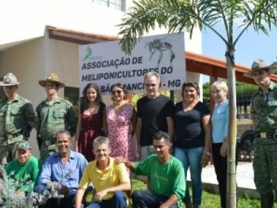 Inauguração da Casa Mel da Associação de Meliponicultores do Alto São Francisco - MG.